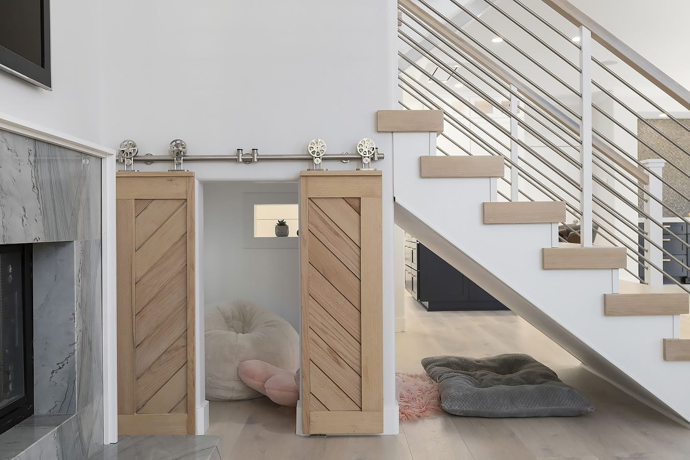 SHI Coastal Design - Cubby Room Under Stairs